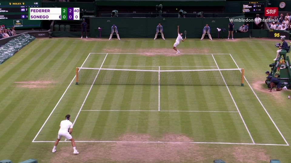 Sonego mussa spectacul – Federer tuttina cun break