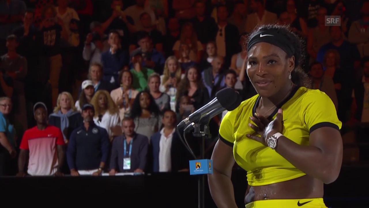 Serena Williams bei der Siegerehrung