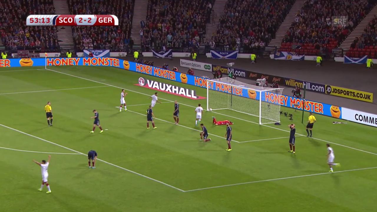 Fussball: ZF Schottland-Deutschland