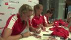 Video «An Autogrammstunde: Frauen-Nati fühlt den Puls bei den Fans» abspielen