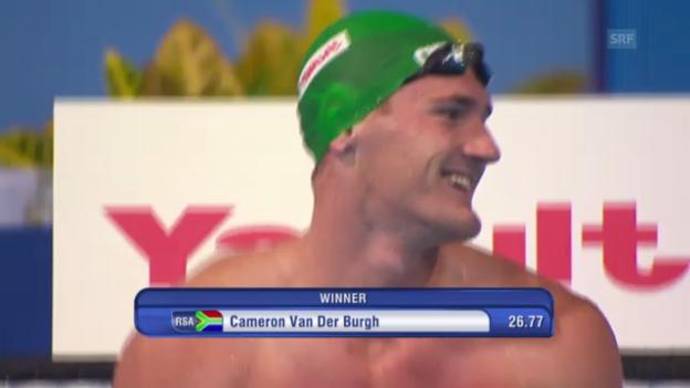 Video «Schwimm-WM in Barcelona: 50 m Brust der Männer (unkommentiert)» abspielen