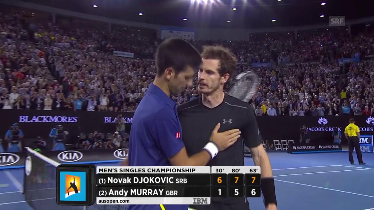 Die Final-Highlights von Djokovic gegen Murray