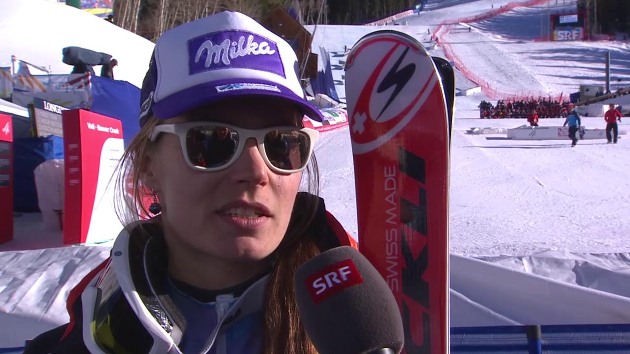 Ski alpin: WM 2015 in Vail/Beaver Creek, Super-Kombi Frauen, Interview mit Tina Maze