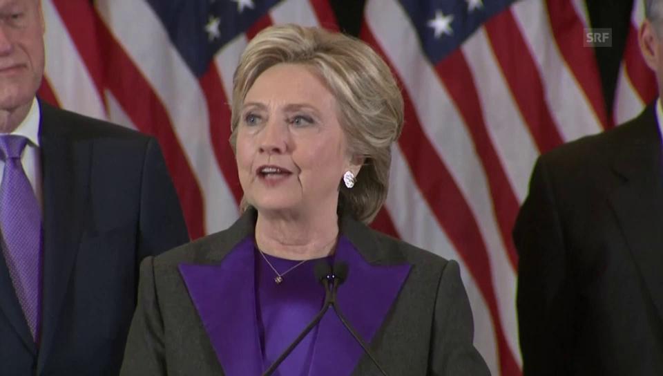 Clinton an ihre jungen Anhänger