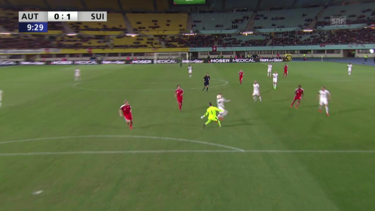 Fussball: Testländerspiel Österreich-Schweiz, 0:1 Seferovic