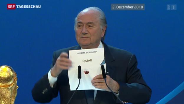 Video «Fussball: FIFA wäscht Katar und Russland rein» abspielen