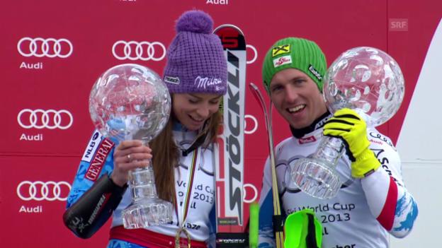 Video «Ski: Rückblick auf den Saisonfinal 2013» abspielen