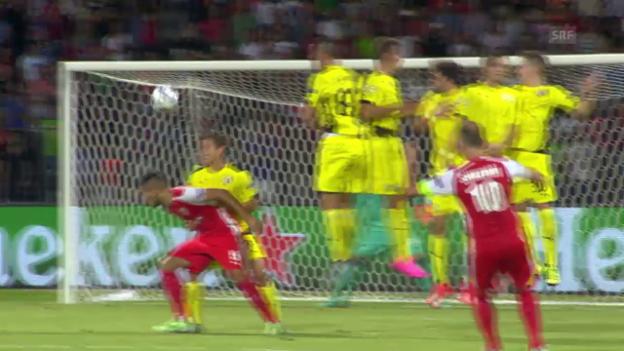Video «Fussball: Skenderbeu-Zagreb» abspielen