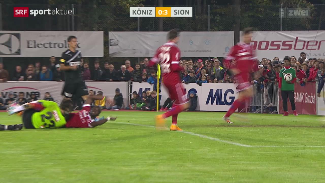 Fussball: Schweizer Cup, Köniz - Sion