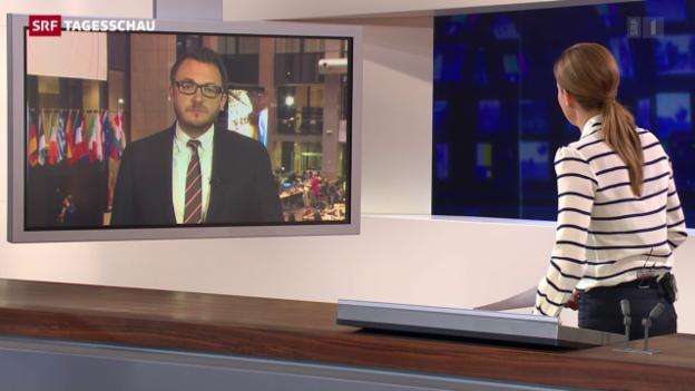 Video «Einschätzungen von Sebastian Ramspeck in Brüssel» abspielen