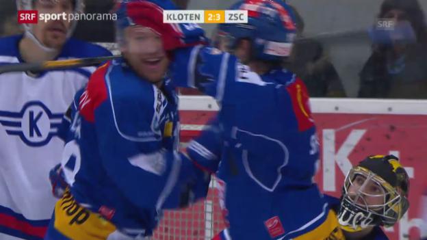 Video «05.01.2014: Kloten-ZSC Lions 3:4» abspielen