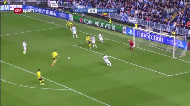 Video «Highlights Malaga - Dortmund» abspielen