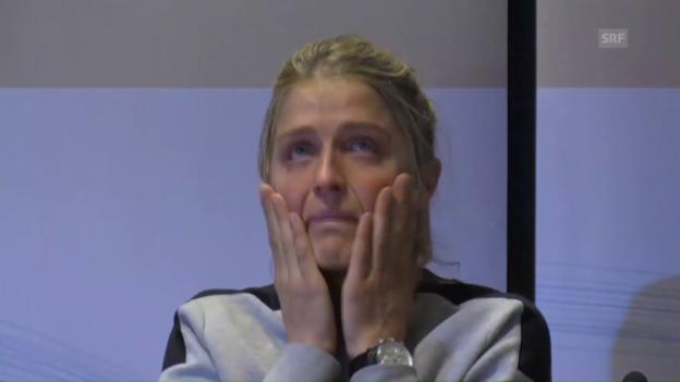 Video «Johaugs emotionale Medienkonferenz» abspielen