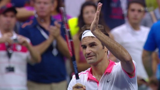 Video «Tennis: Federer gewinnt Geduldsprobe gegen Isner» abspielen