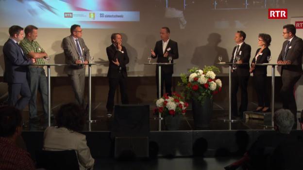 Laschar ir video «Giuven e frestg: il podium d'elecziun a Cuira»