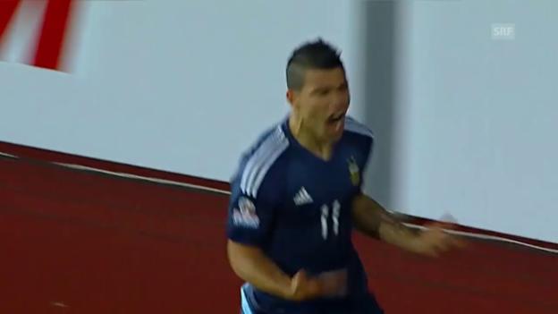 Video «Fussball: Copa America, Argentinien - Uruguay» abspielen
