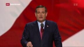 Video «US-Republikanischer Senator sorgt am Parteitag für Eklat» abspielen