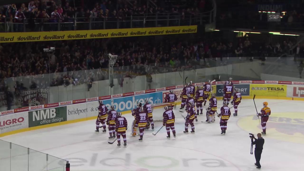 Eishockey: Playoff-Halbfinal Genf - ZSC, Spiel 5, Fans feiern Genf trotz 0:8-Niederlage