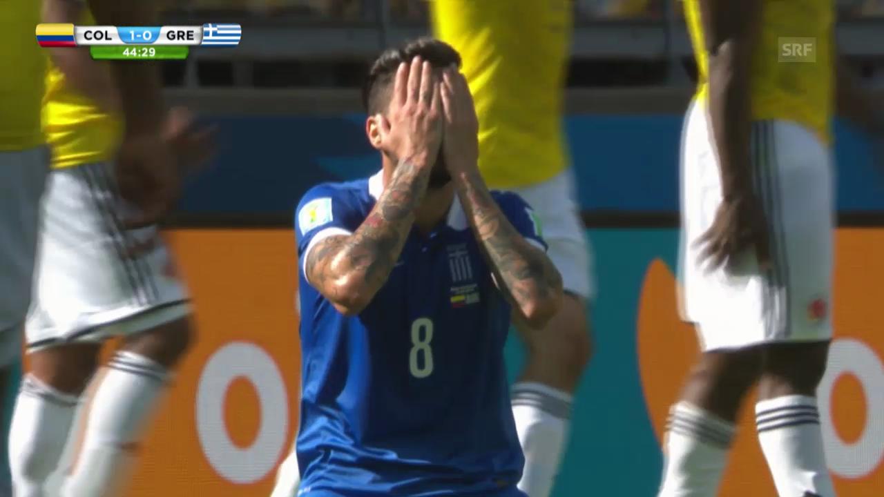 FIFA WM 2014: Kolumbien - Griechenland: Die Highlights