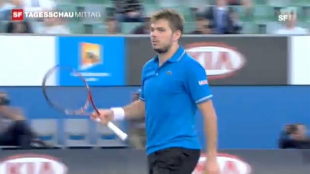 Video «Australian Open: Wawrinka-Dimitrov» abspielen
