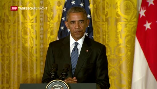 Video «Obama: Trump ist nicht geeignet, US-Präsident zu werden» abspielen
