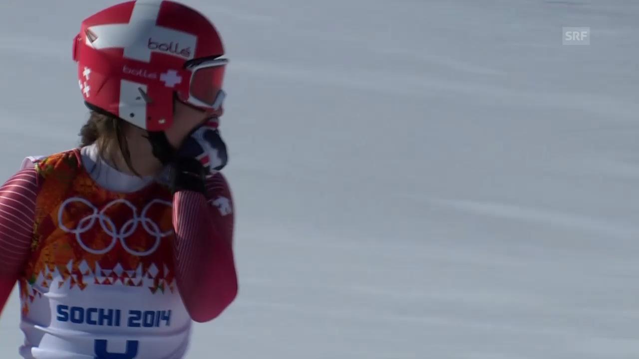 Ski: Abfahrt der Frauen, die Fahrt von Dominique Gisin (sotschi direkt, 12.02.2014)