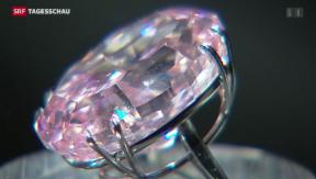 Video «76 Millionen Franken für rosa Diamanten» abspielen