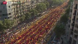 Video «Unabhängigkeits-Proteste in Barcelona» abspielen
