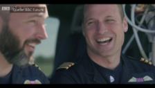 Video «Prinz William scherzt mit Arbeitskollege» abspielen