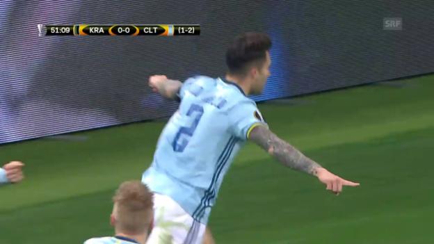 Video «Celta Vigo lässt Krasnodar keine Chance» abspielen