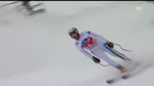 Ski alpin: Werner Heel im 1. Training zur Lauberhorn-Abfahrt (unkommentiert)