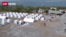 Link öffnet eine Lightbox. Video Die Schweiz hilft mit Zelten und 500'000 Franken abspielen