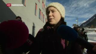 Video «Greta Thunberg am WEF» abspielen