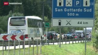 Video «Bundesrat will zweite Gotthard-Röhre » abspielen