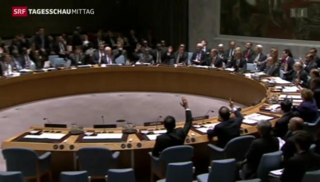 Video «Uno-Resolution gegen IS angenommen» abspielen
