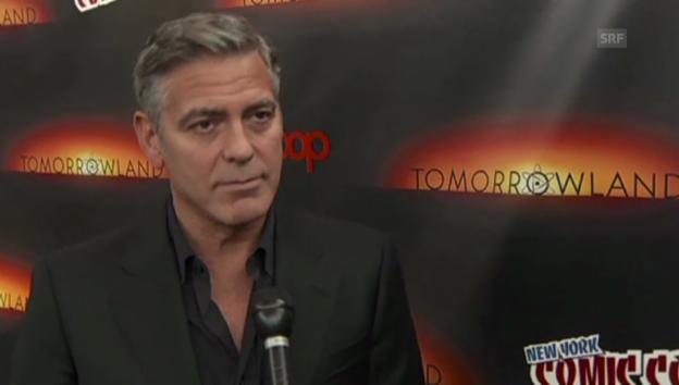 Video «Auch ohne Frau zu Scherzen bereit: George Clooney» abspielen