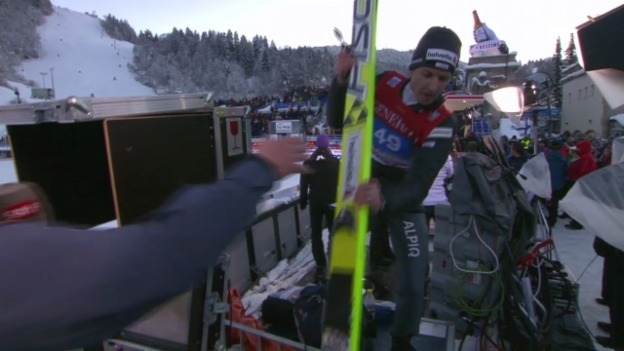 Video «Skispringen: Garmisch,Interview Simon Ammann» abspielen