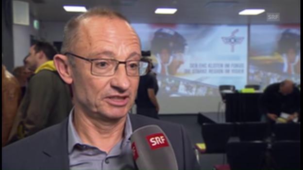 Video «Klotens Stadtpräsident René Huber zur Rettung von Kloten: «Ein schöner Tag»» abspielen
