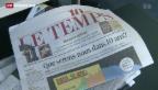 Video «Ringier sichert sich Mehrheit an «Le Temps»» abspielen