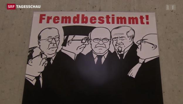 Video ««Schweizer Recht vor fremdem Recht», die SVP lanciert eine neue Initiative» abspielen