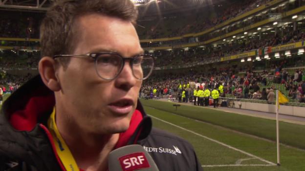 Video «Stephan Lichtsteiner im Pausen-Interview» abspielen
