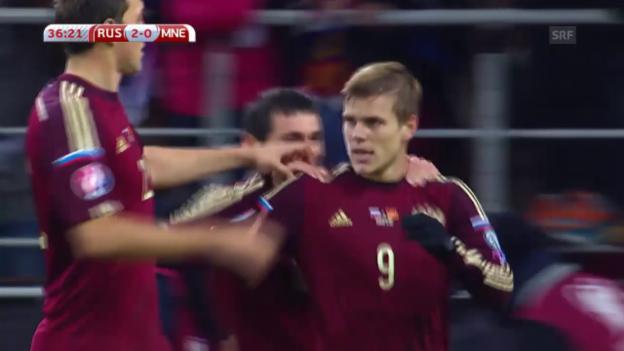Video «Fussball: EURO Quali, Fernduell Russland - Schweden» abspielen