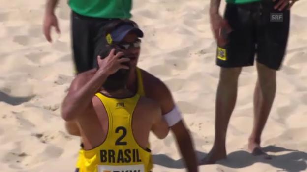Video «Beachvolleyball: Satzbälle Männerfinal» abspielen
