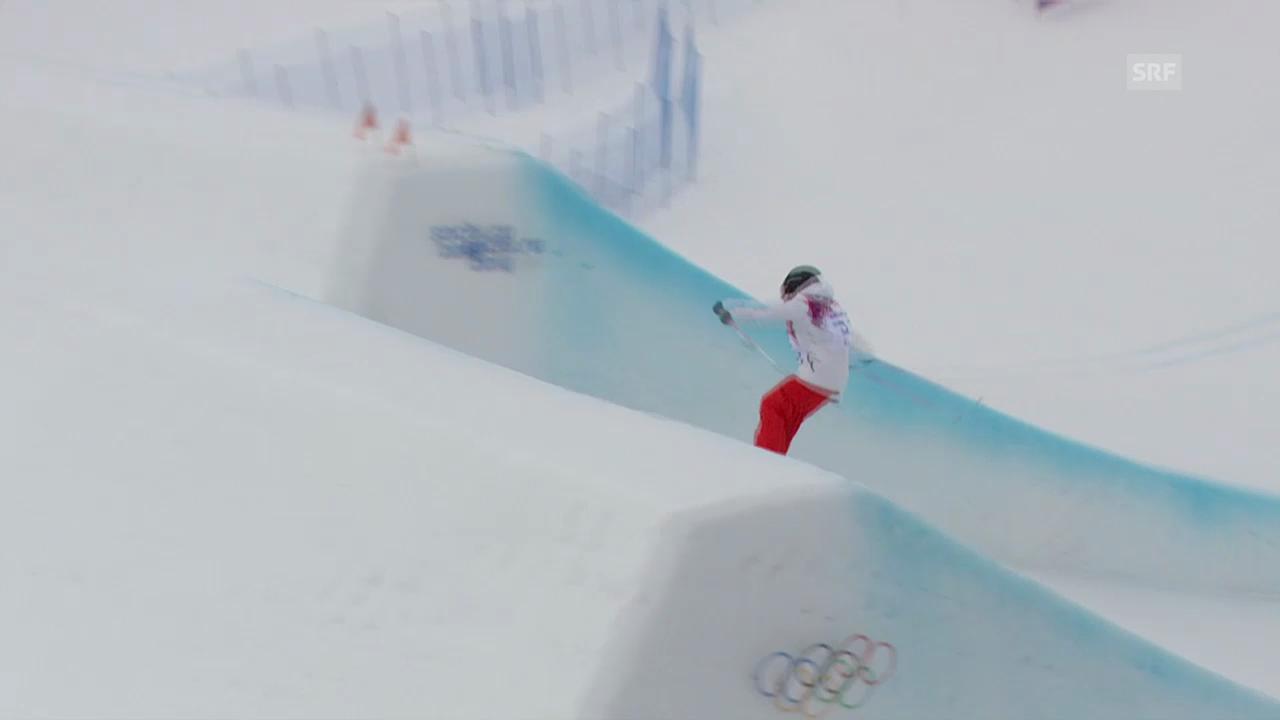 Freestyle Ski: Slopestyle Frauen, 2. Final-Run Eveline Bhend (sotschi direkt, 11.02.2014)