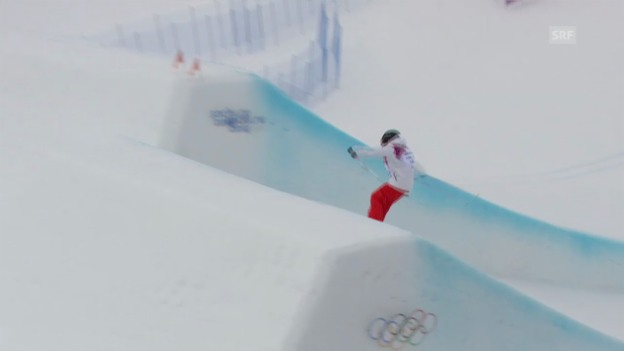Video «Freestyle Ski: Slopestyle Frauen, 2. Final-Run Eveline Bhend (sotschi direkt, 11.02.2014)» abspielen