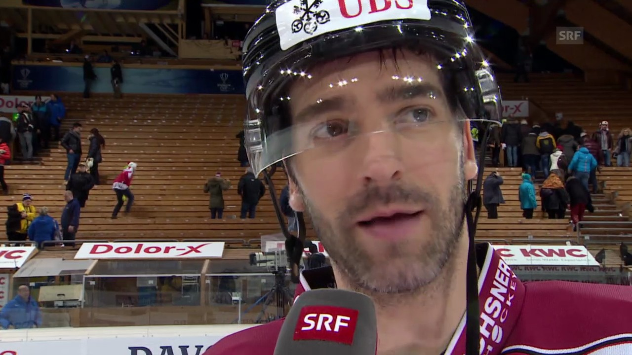 Eishockey: Spengler Cup, Interview mit Alexandre Giroux