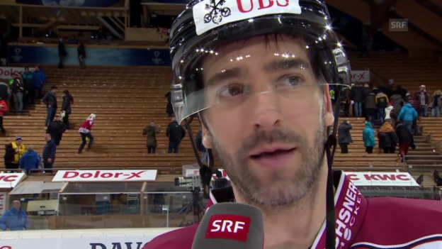 Video «Eishockey: Spengler Cup, Interview mit Alexandre Giroux» abspielen