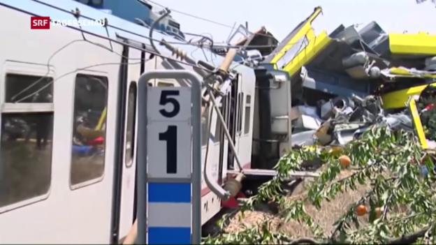 Video «Schweres Zugunglück in Apulien» abspielen