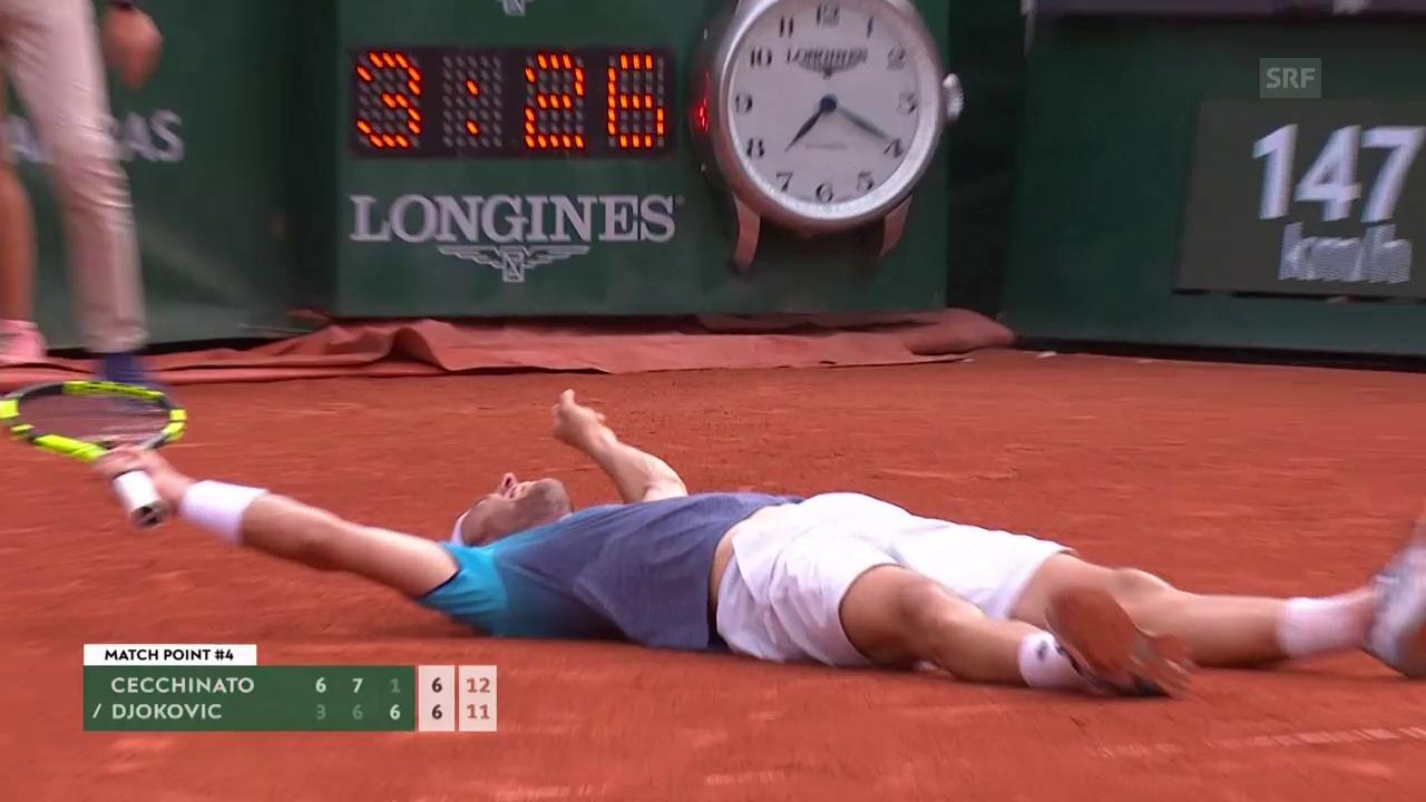 Djokovic unterliegt überraschend Cecchinato