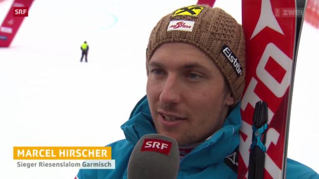 Video «Ski alpin: Weltcup-Riesenslalom in Garmisch-Partenkirchen» abspielen